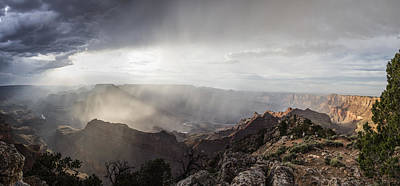 Photograph - Storm In Grand Canyon  by John McGraw