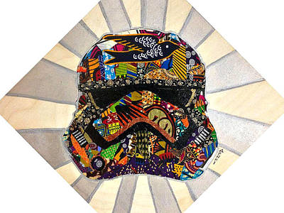 Tapestry - Textile - Strom Trooper Afrofuturist  by Apanaki Temitayo M