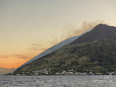 Photograph - Stromboli Erupting by Rod Jones