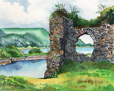 Stone Buildings Painting - Strome Castle Scotland by Timithy L Gordon
