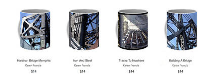 Digital Art - Strong As Steel Coffee Mugs by Karen Francis
