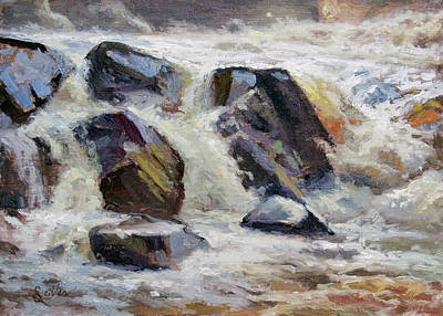Painting - Strong Falls Plein Air Demo by Larry Seiler