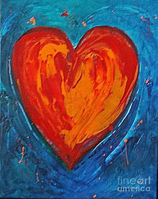 Painting - Strong Heart by Diana Bursztein