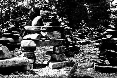 Photograph - Strong Inukshuk by Brian Sereda
