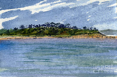 Cape Cod Bay Painting - Strong Island by Heidi Gallo