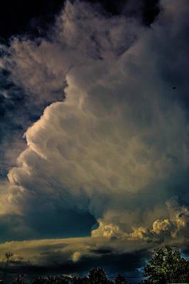 Photograph - Strong Nebraska Thunderstorms 006 by NebraskaSC