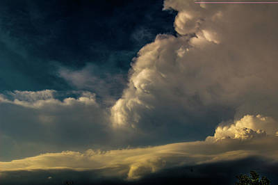 Photograph - Strong Nebraska Thunderstorms 015 by NebraskaSC