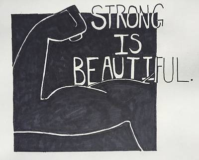 Drawing - Strong by Sara Young