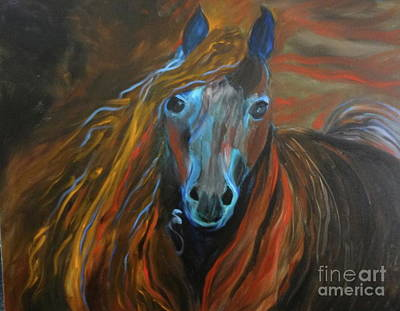 Painting - Strong Steed by Jenny Lee
