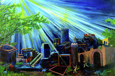 Subconscious Painting - Strongholds Against Light by Walter Idema