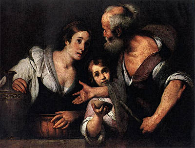 Photograph - Strozzi Bernardo Prophet Elijah And The Widow Of Sarepta by Bernardo Strozzi