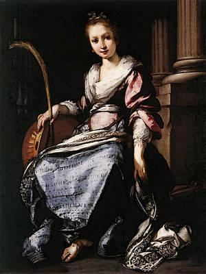 Strozzi Bernardo St Cecilia Art Print