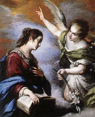 Strozzi Bernardo The Annunciation Art Print