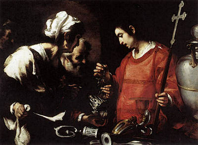Photograph - Strozzi Bernardo The Charity Of St Lawrence by Bernardo Strozzi