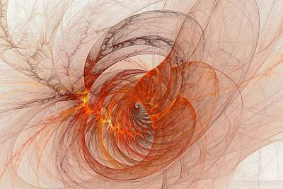 Lyrical Digital Art - Structured Pyroclasm by Doug Morgan