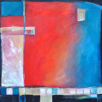 Tim Painting - Structures And Solitude Revisited by Tim Nyberg