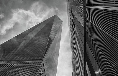 Photograph - Structures Of Nyc 11-bw by Jonathan Nguyen
