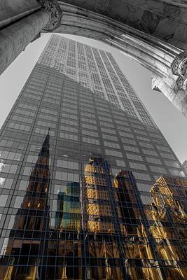 Photograph - Structures Of Nyc 12-bw by Jonathan Nguyen
