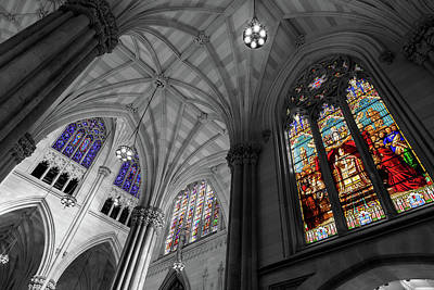 Photograph - Structures Of St. Patrick Bw 2 by Jonathan Nguyen