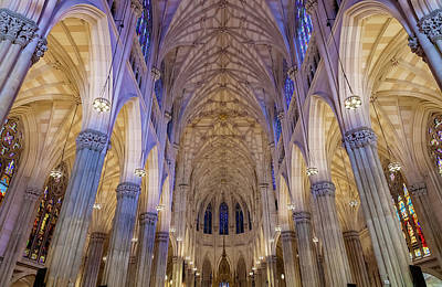 Church Fixture Photograph - Structures Of St. Patrick Cathedral 1 by Jonathan Nguyen
