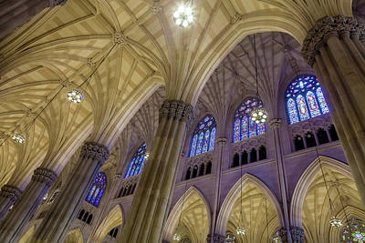 Photograph - Structures Of St. Patrick Cathedral 2 by Jonathan Nguyen