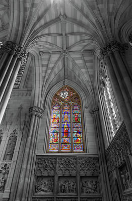 Photograph - Structures Of St. Patrick Cathedral Bw by Jonathan Nguyen
