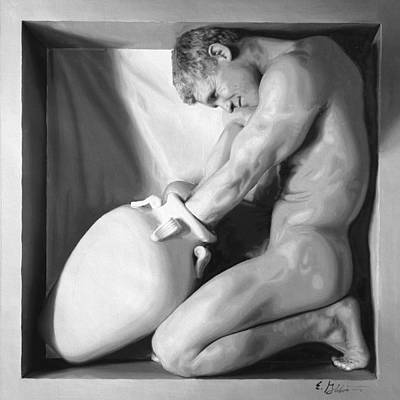 Nudes Painting - Struggle by E Gibbons
