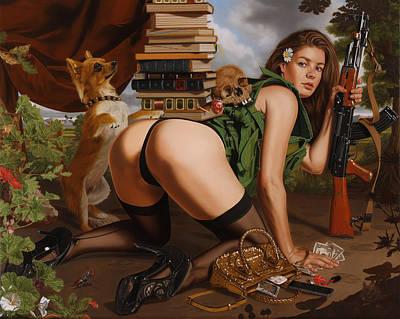 Ak-47 Painting - Struggle In Vain by Sierk Van Meeuwen