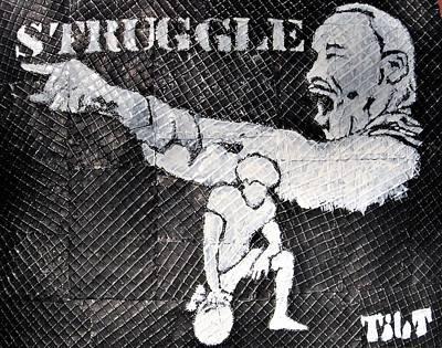 Mixed Media - Struggle by William Tilton