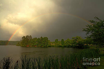 Jft Photograph - Struggling Rainbow by James F Towne