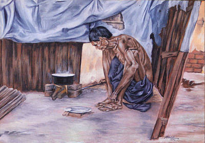 Venkat Painting - struggling with Life by Venkat Meruvu