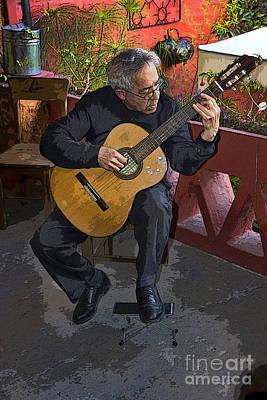 Fundraiser Photograph - Strummin' My Six-string by Al Bourassa