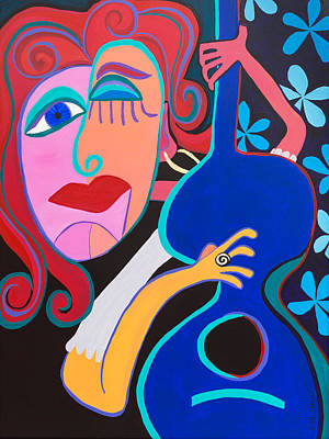 Painting - Strumming My Life With My Fingers by Beth Cooper