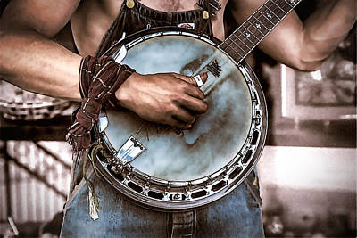 Digital Art - Strumming On The Old Banjo by John Haldane