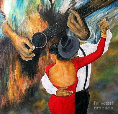 Painting - Strummng Me Softly by Anna-maria Dickinson