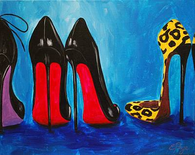 Stilettos Painting - Strut Your Stuff by Emily Page