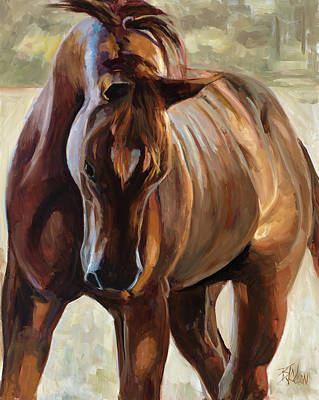 Painting - Struttin His Stuff by Billie Colson