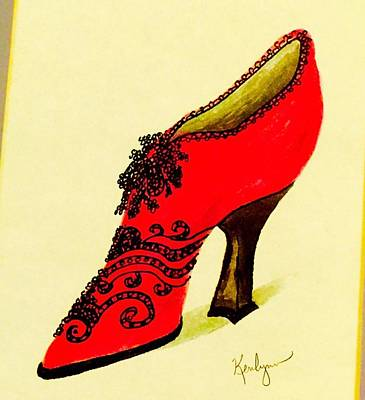 Fancy Shoes Painting - Strutting Big Time by Kenlynn Schroeder