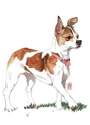 Chihuahua Portraits Painting - Strutting Chihuahua by Debra Jones