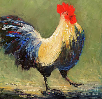 Painting - Strutting Rooster by Carolyn Jarvis