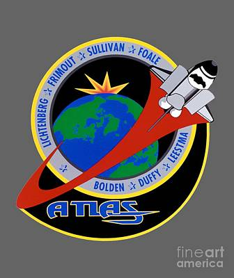 Art Gallery Mixed Media - Sts-45 Patch  by Art Gallery