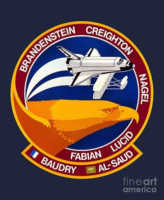 Art Gallery Mixed Media - Sts-51g Insignia by Art Gallery