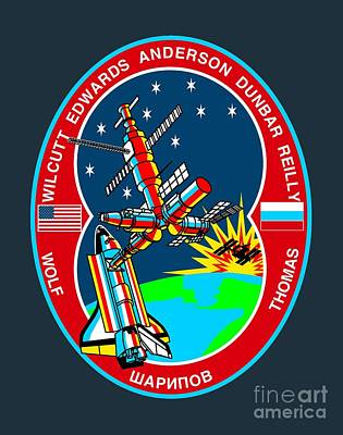 Art Gallery Mixed Media -  Sts-89 Crew Insignia by Art Gallery