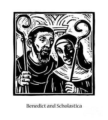 Painting - Sts. Benedict And Scholastica - Jlbas by Julie Lonneman
