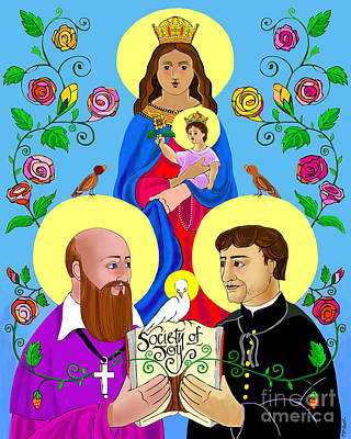 Painting - Sts. Francis De Sales And John Bosco - Mmsbo by Br Mickey McGrath OSFS