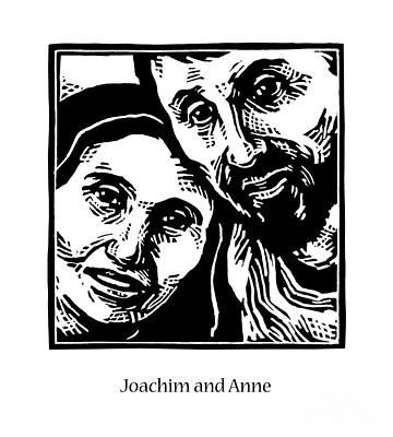 Painting - Sts. Joachim And Anne - Jljan by Julie Lonneman