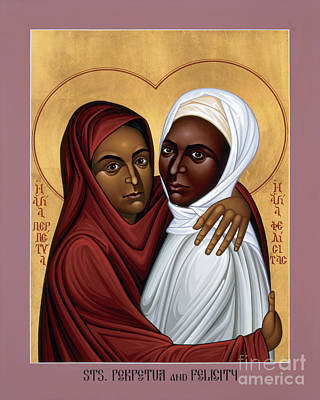Painting - Sts. Perpetua And Felicity - Rlpaf by Br Robert Lentz OFM