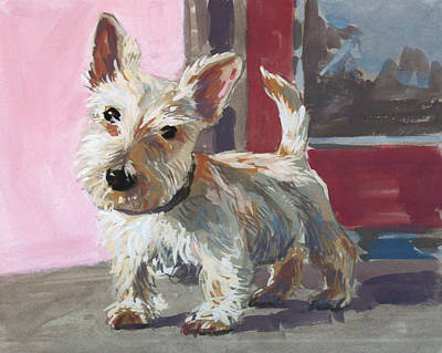 Scotty Dog Painting - Stuart The Scotty by William Noonan