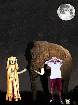 Mixed Media - Stuarts African Elephant Scream by Eric Kempson