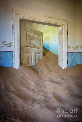 Delapidated Photograph - Stuck Door by Inge Johnsson